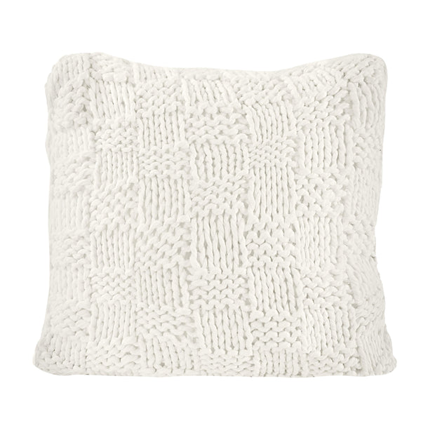 Chess Knit Euro Pillow, 27x27 Natural