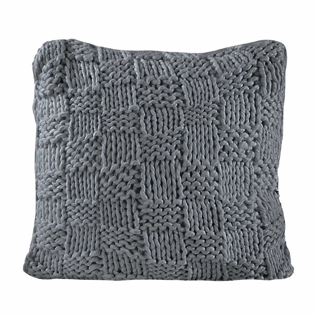 Chess Knit Euro Pillow, 27x27, 4 Colors