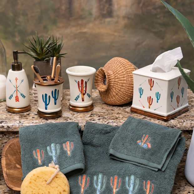5 PC Cactus Vanity Set
