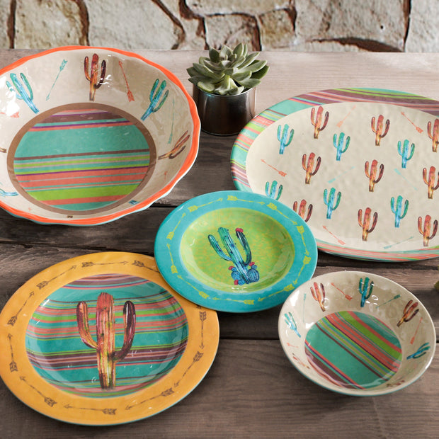 Cactus 14-PC Melamine Dinnerware Set