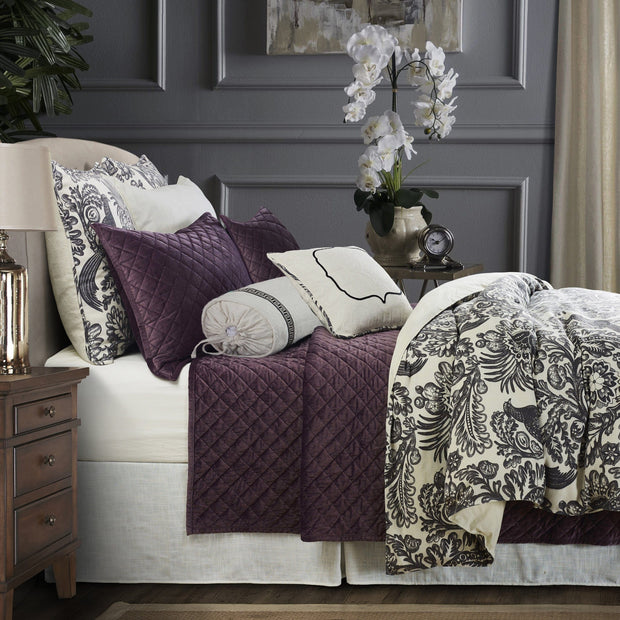 7 PC Alexandria Duvet Cover Set, Amethyst