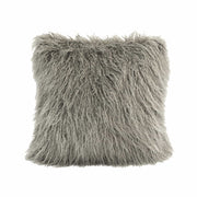 Mongolian Faux Fur Throw Pillow, 6 Colors, 18x18