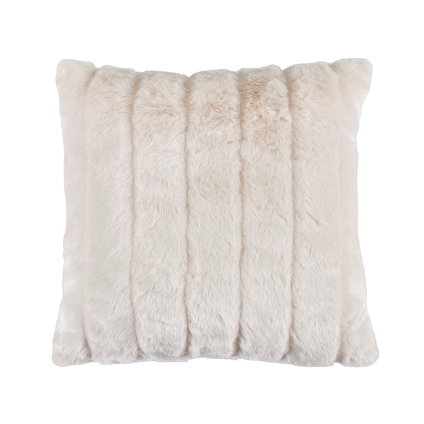 Oversized White Mink Throw Pillow, 22x22