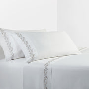 350 Thread Count 4-PC Scroll Sheet Set, White (Queen/King)