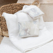 Rosaline Linen Towel Set, White