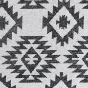 Aztec Design Throw With Shearling (Blue, Black, Gray), 50x60