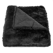 Oversized Arctic Bear Throw, Black, 50x80