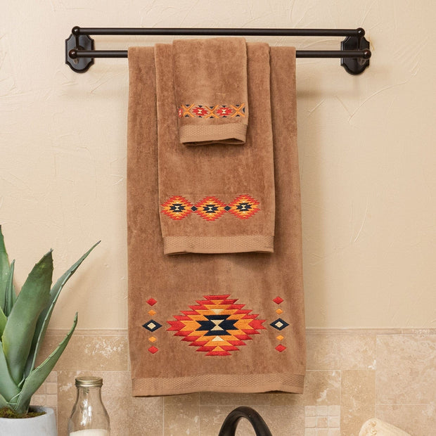 Del Sol 3-PC Bath Towel Set, Mocha