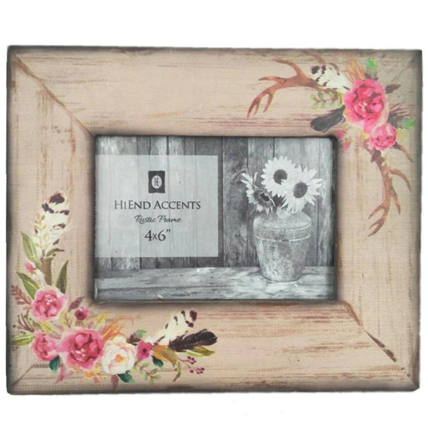 Rose/Antler Picture Frame, 4x6