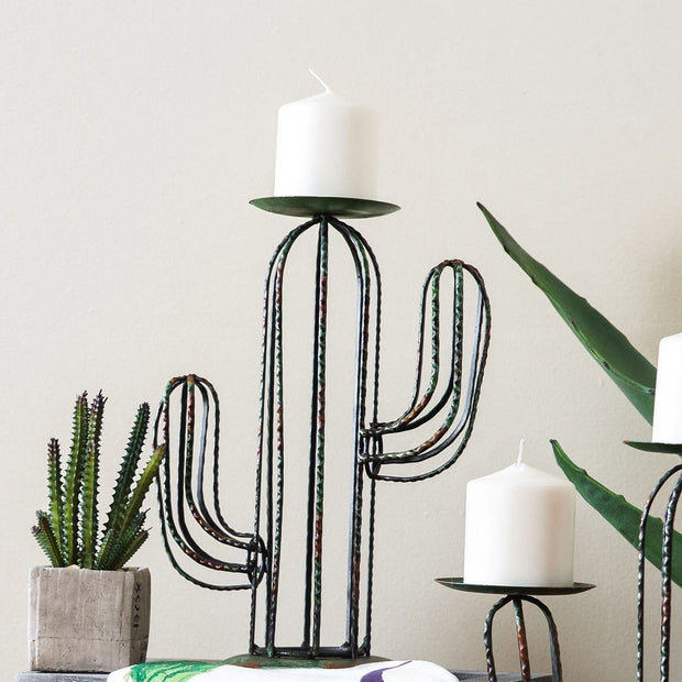 Cactus Single Pillar Candle Holder