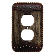 Woodgrain Single Outlet Cover Wall Plate