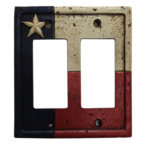 Texas Double Rocker Wall Switch Plate