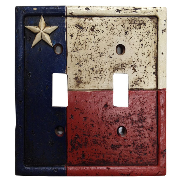 Texas Double Switch Wall Plate
