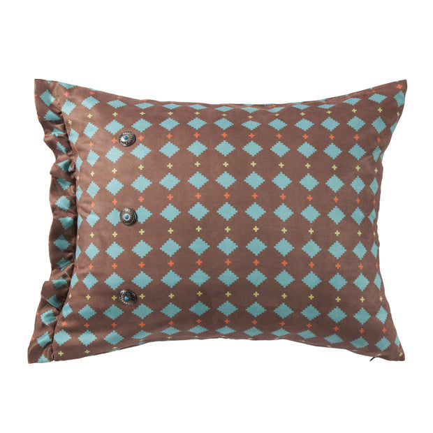 Serape Printed Multi Diamond Suede Pillow, 16x26