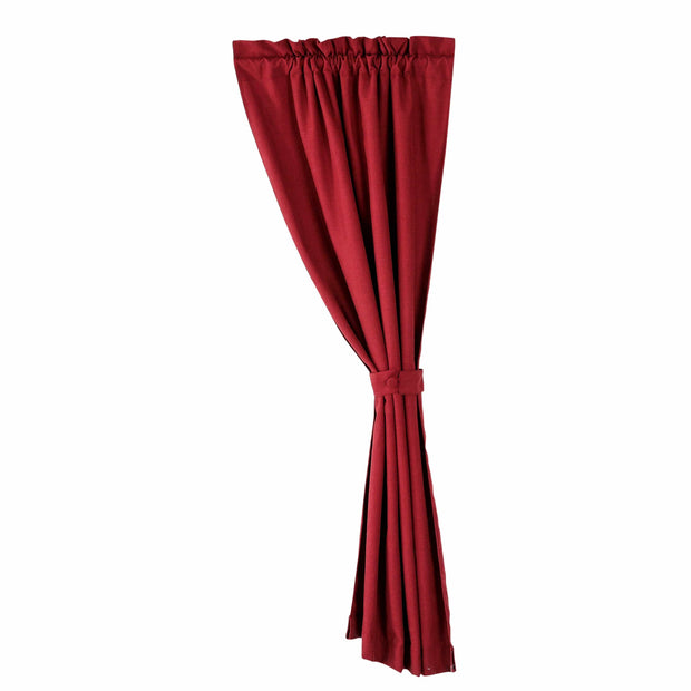 Red textured curtain , 48x84