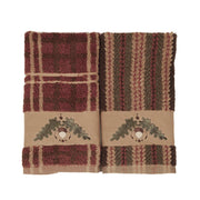 Acorn Embroidered 3-PC Bath Towel Set, Stripe