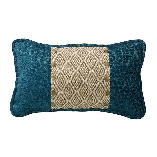 Alamosa Ikat & Teal Leopard Chenille Accent Pillow