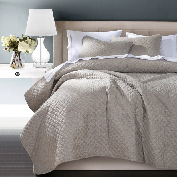 Anna Diamond Quilted Coverlet - 3 Colors (Queen/King)