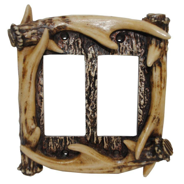Antler Double Rocker Wall Plate