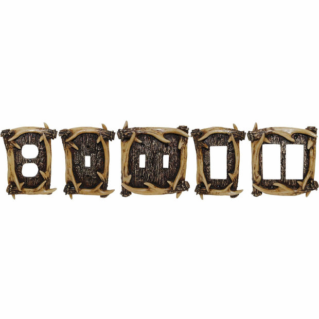 Antler Double Switch Wall Plate