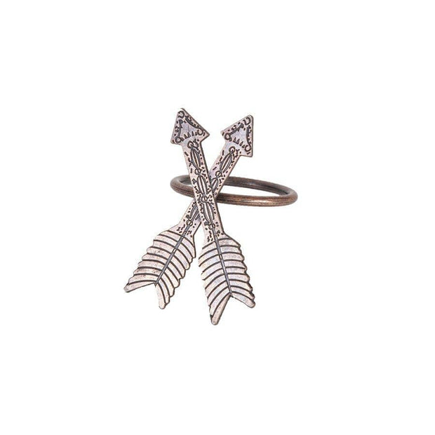 Arrow Design Southwestern Napkin Rings (Set of 6)