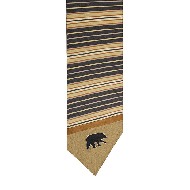 Ashbury Black & Tan Table Runner w/ Bear