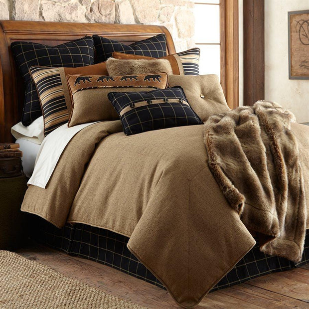 Ashbury 5-PC Rustic Bedding Set, Black & Brown