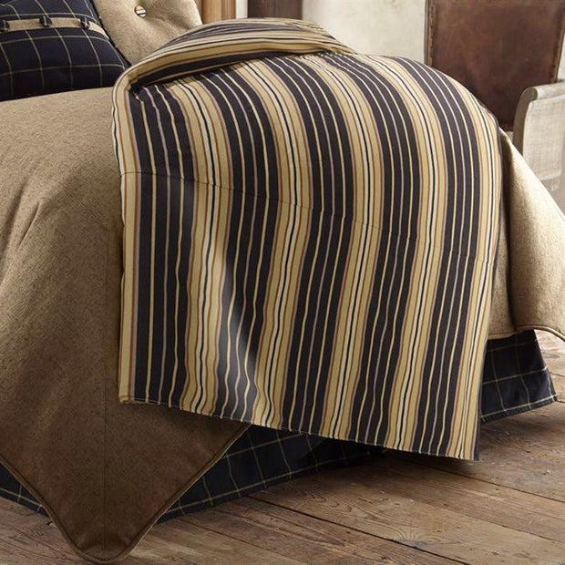 Ashbury Duvet Cover, Black & Tan (Queen)