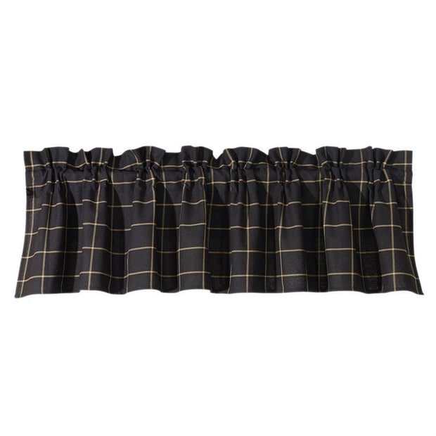 Ashbury Kitchen Valance w/ Tan & Black Tweed Fabric