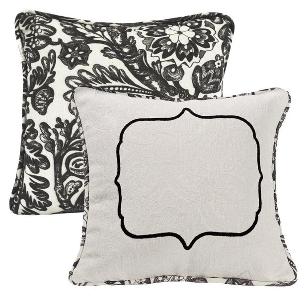 Augusta Matelasse Throw Pillow w/ Embroidery Detail