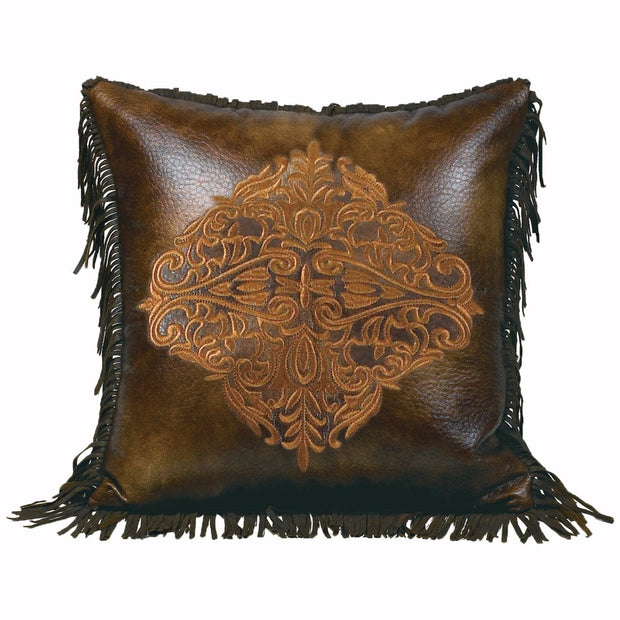 Austin Golden Medallion Throw Pillow