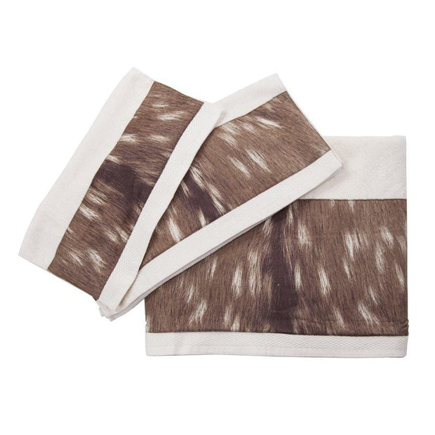 Axis 3-PC Bath Towel Set w/ Deer Fur Design