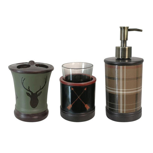 5 PC Aztec Bear Vanity Set