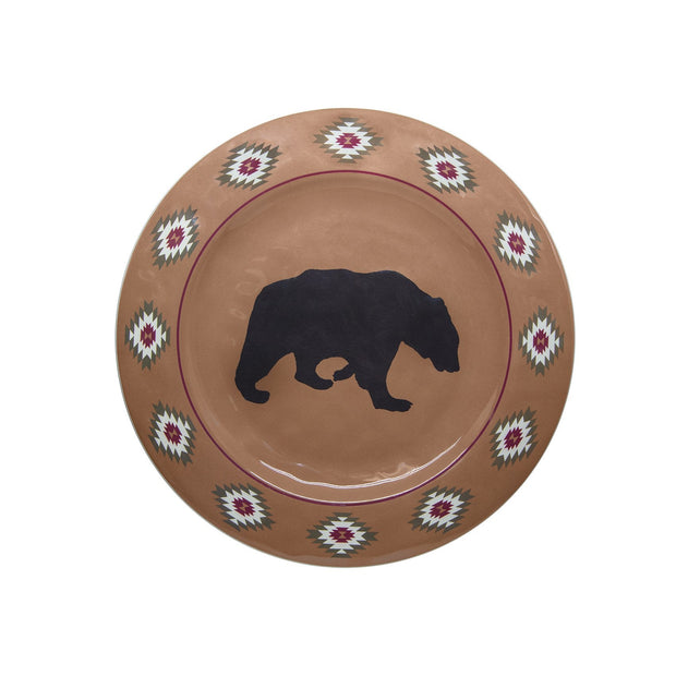 Aztec Bear 14-PC Melamine Dinnerware Set