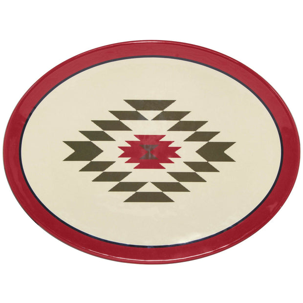 Aztec Bear Melamine Serving Platter