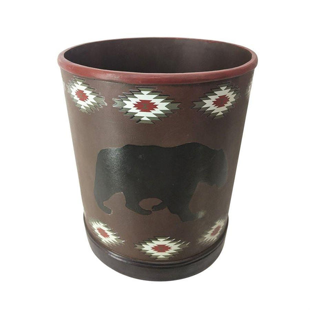Aztec Bear Bathroom Wastebasket
