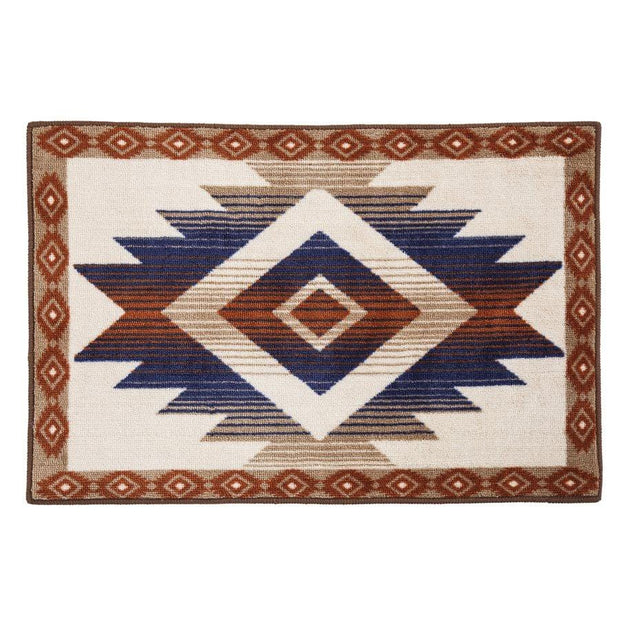 Aztec Blue & Terra Cotta Southwest Kitchen/Bath Rug