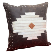 Aztec (Genuine) Leather & Hide Throw Pillow, 20x20