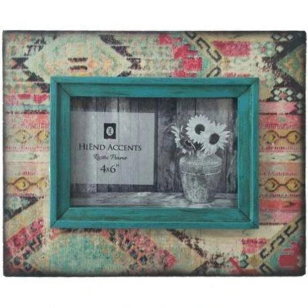 Aztec Tapestry Picture Frame, 4x6