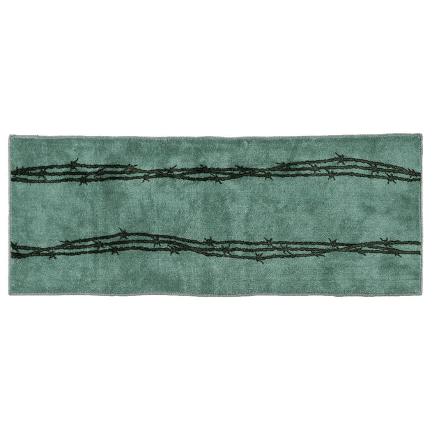 Turquoise Barbwire Western Kitchen/Bath Area Rug