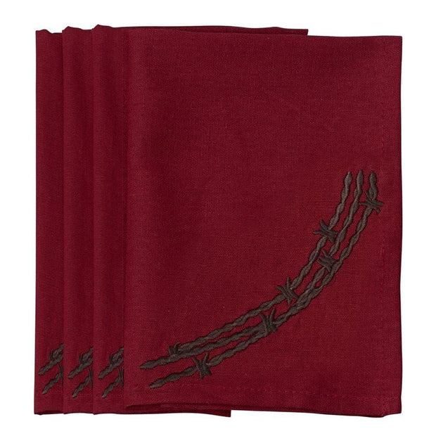 Barbwire Napkin - Red (Set of 4)