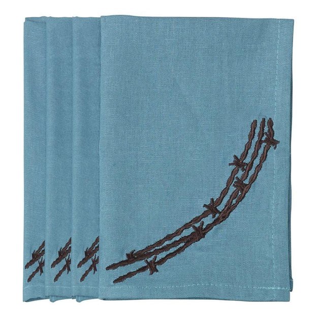 Barbwire Napkin - Turquoise (Set of 4)