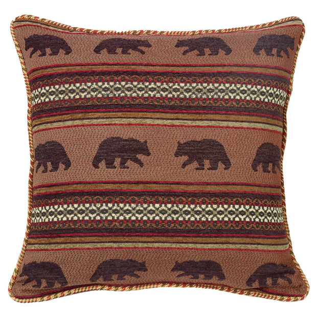 Bayfield Bear Reversible Houndstooth Euro Sham