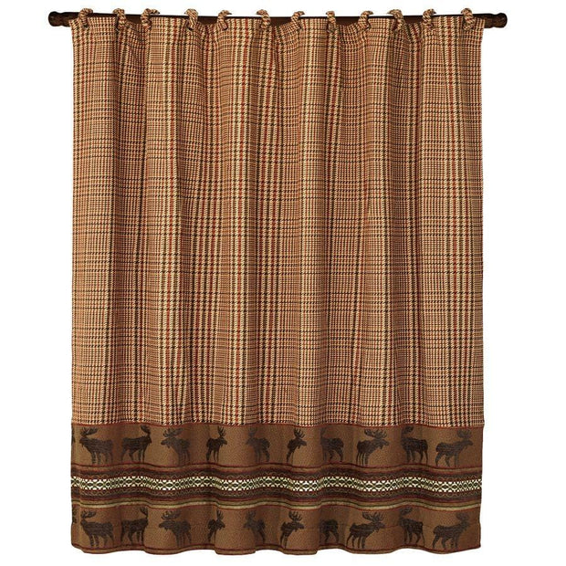Bayfield Moose Lodge-Style Houndstooth Shower Curtain
