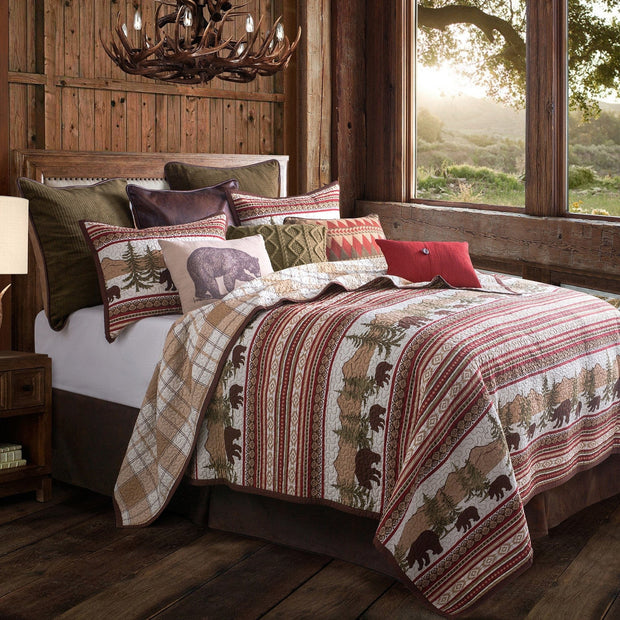 Bear Trail 3-PC Reversible Quilt Set
