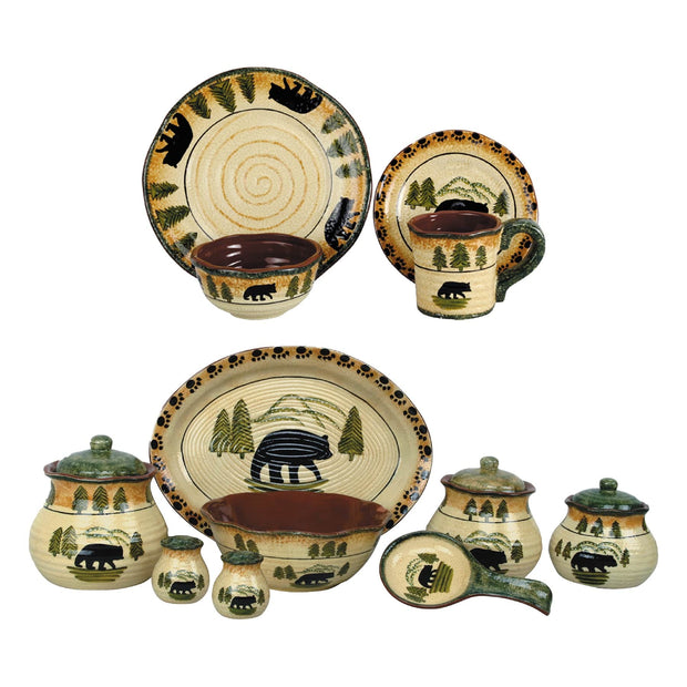 Bear 24-PC Dinnerware and Canister Set