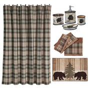 Birch Pinecone 9 PC Bath Accessary and Forest Pines Towel Set