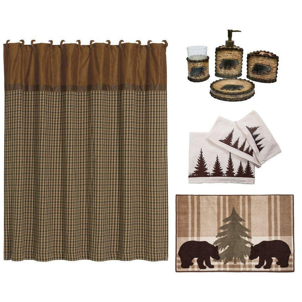 Bear 9-PC Bath Accessary and Clearwater Pines Towel Set