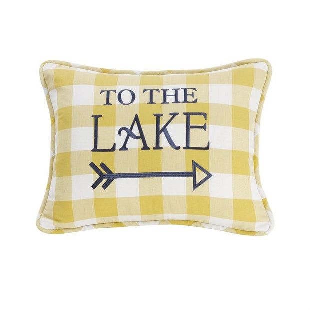 "Beaufort ""To The Lake"" Plaid Throw Pillow"