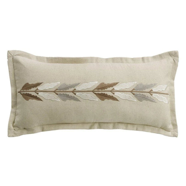 Belmont Embroidered Linen Lumbar Pillow